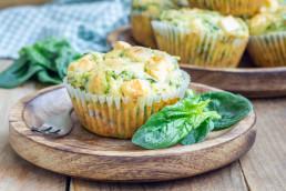 Przepis na szpinakowe muffinki